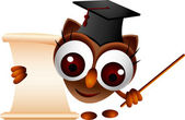 Cute owl presenting — Stock Vector