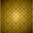 Seamless Damask wallpaper with gold color — Stock Vector #13832173