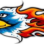 Eagle head tattoo — Stock Vector