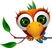 Cute macaw bird cartoon — Stock Vector