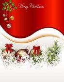 Schoonheid kerstkaart achtergrond — Stockvector