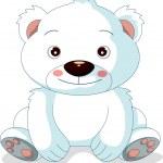 şirin kutup ayısı karikatür — Stok Vektör