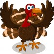 Happy turkey cartoon — Stock Vector #14840609