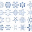 Stock Vector: Snowflake Vectors collection