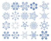 Snowflake Vectors collection — Stock Vector
