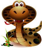 Funny snake cartoon — Stock Vector