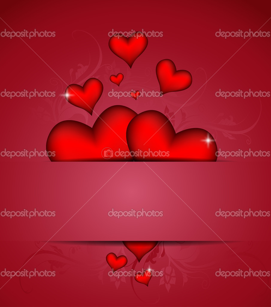 Valentines day card vector background  — Stock Vector #16304383
