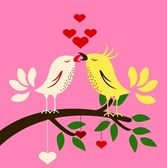 Birds with love — Stock Vector