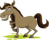 Cute horse smiling — Stock Vector