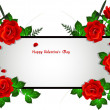 Royalty-Free Stock Vektorgrafik: Frame with red roses