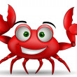 Funny cartoon crabs — Stock Vector