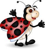 Funny Ladybug cartoon — Stock Vector