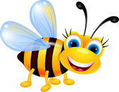 Funny bee cartoon — Stock Vector