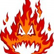 Fire monster - Stock Vector