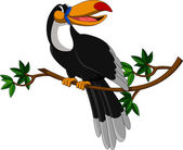 Tucano bonito sentado na árvore — Vetorial Stock