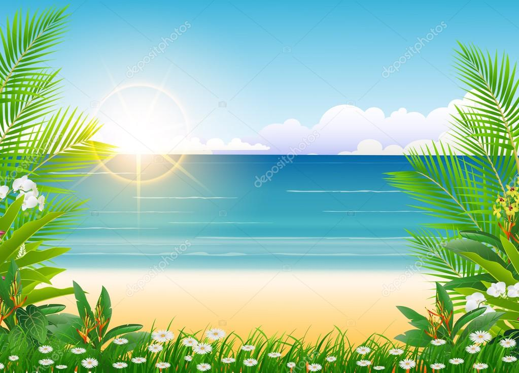 Beautiful Beach Backgrounds Palm Trees And Palm Tree And Beach