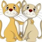 Cute couple cat — Stock Vector #23581801