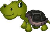 Cute turtle cartoon — Vector de stock
