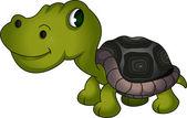 Cute turtle cartoon — Stock Vector