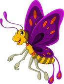 Cute butterfly cartoon — Stock Vector