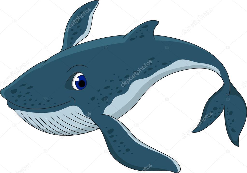 Cute blue whale cartoon — Stock Vector © starlight789 ...