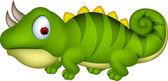 Chameleon cartoon — Stock Vector