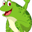 Cute frog cartoon smiling — Stock Vector