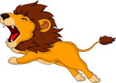Roaring cartoon Lion — Stock Vector