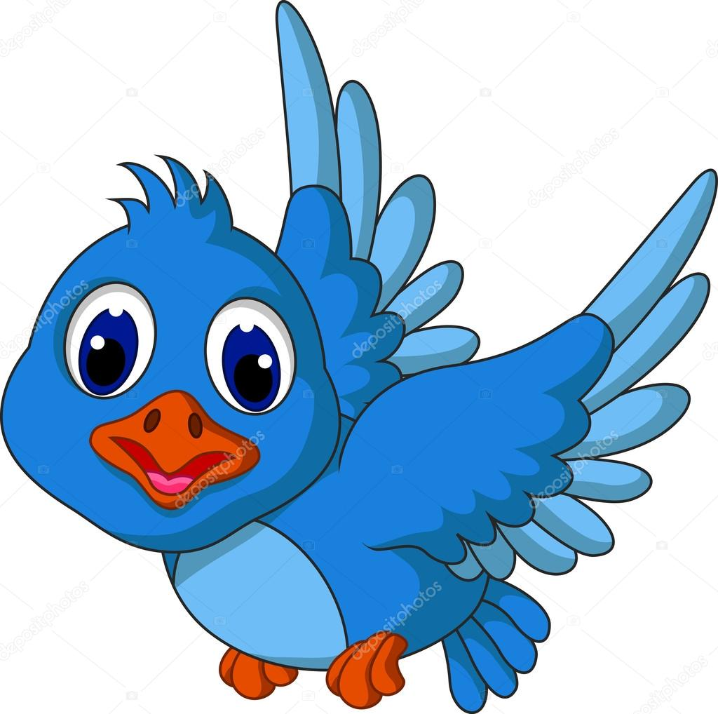 Blue Bird Clip Art - Royalty Free - GoGraph
