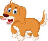 Cute little dog cartoon expression — Stock Vector