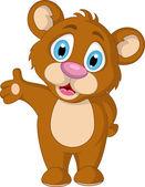 Expresión de dibujos animados lindo osito brown — Vector de stock