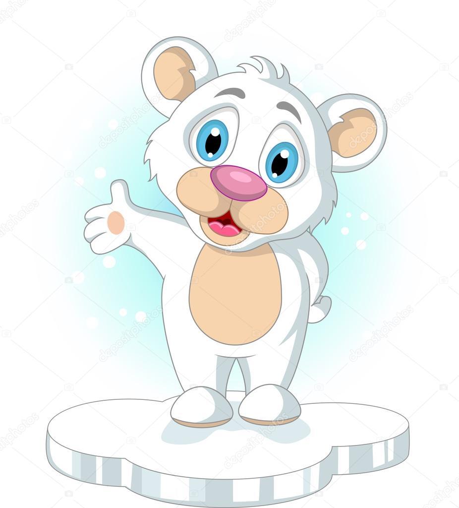 Mignon petit ours blanc dessin anim levant sa main image vectorielle starlight789 25673055 - Petit ours dessin anime ...