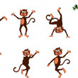 Cute comical monkey series — Stock Vector #25683589