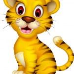 Cute baby tiger posing — Stock Vector #25789035