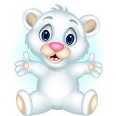 Cute baby polar bear posing — Stock Vector