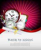 Modern Back to school background — Stock Vector