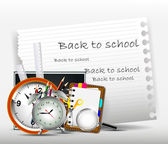 Modern back to school background for you design — Stock Vector