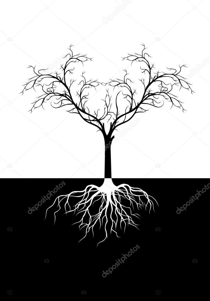 为你设计树剪影矢量图 — 矢量图片作者 starlight789