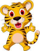 Cute baby tiger posing — Stock Vector