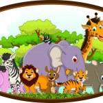 Cute animals wildlife cartoon — Stock Vector #32935965