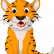 Cute tiger cartoon posing — Stock Vector #32937643
