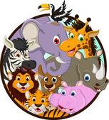 Desenho de animais selvagens de animais fofos — Vetorial Stock