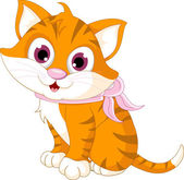 Cute cat cartoon posing — Vecteur