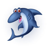 Shark cartoon smiling — Vector de stock