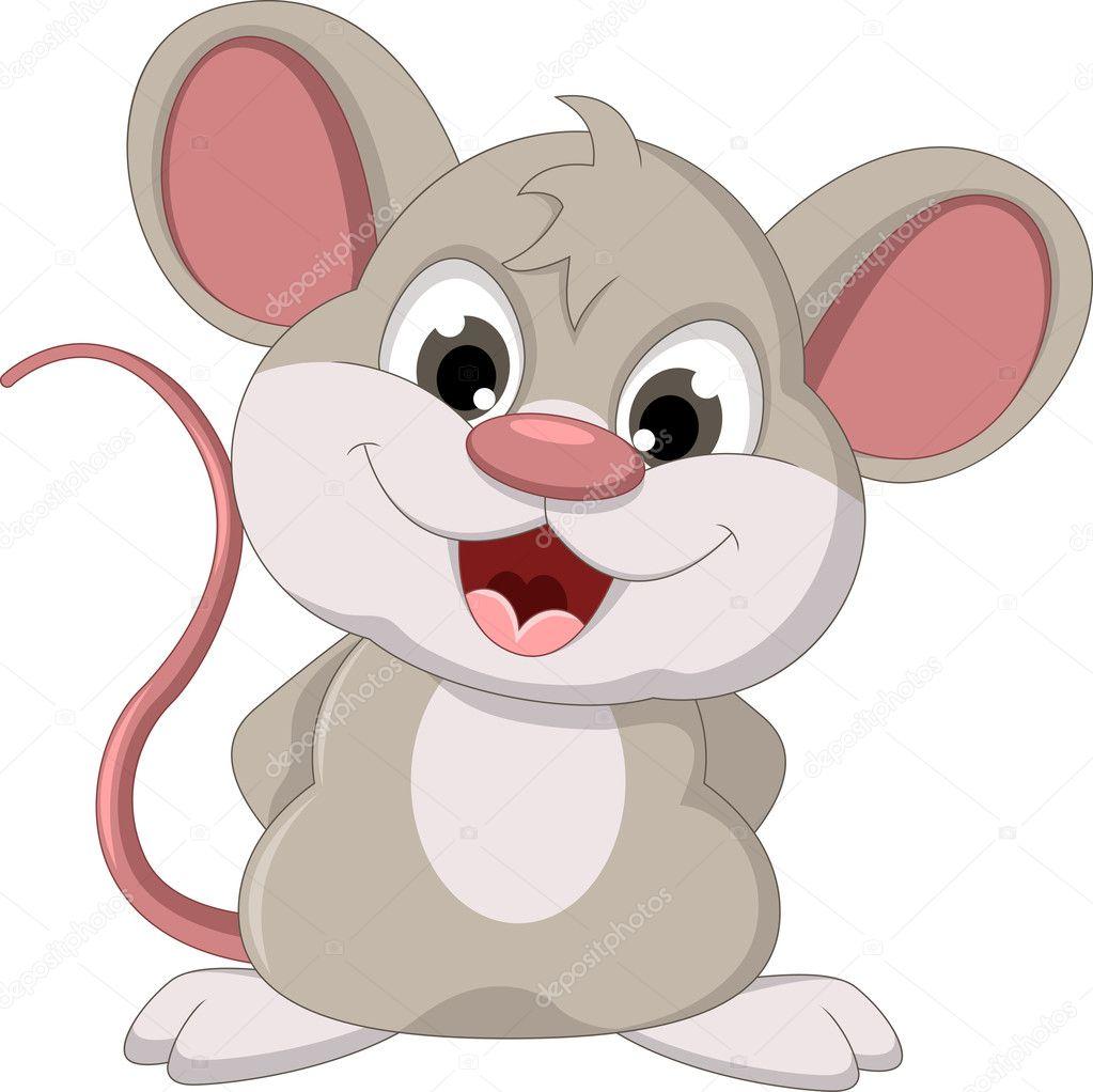 Carino mouse cartoon in posa vettoriali stock for Scarica clipart