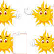 Sun cartoon collection — Stock Vector