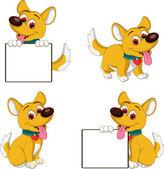 Puppy cartoon collection — Vecteur
