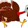 Funny Turkey Cartoon Running — Vettoriali Stock