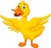 Happy Duck Cartoon — Stock Vector