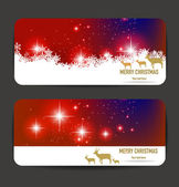 Christmas banners for you design — Stock Vector